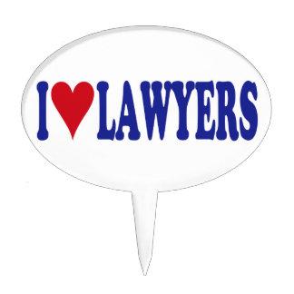 I Love Lawyers Cake Pick