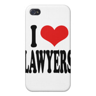 I Love Lawyers Case For iPhone 4