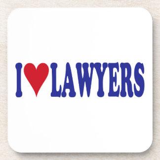 I Love Lawyers Coaster