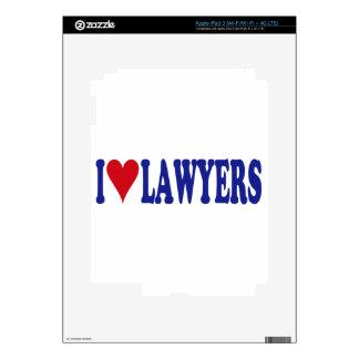 I Love Lawyers Decal For iPad 3