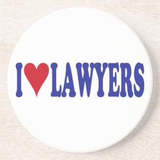 I Love Lawyers Drink Coaster