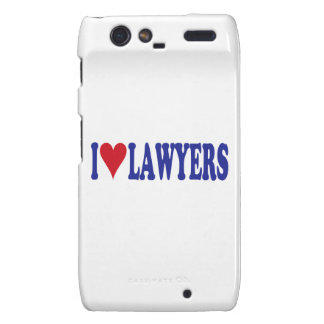 I Love Lawyers Droid RAZR Cover