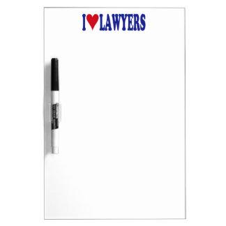 I Love Lawyers Dry-Erase Whiteboards