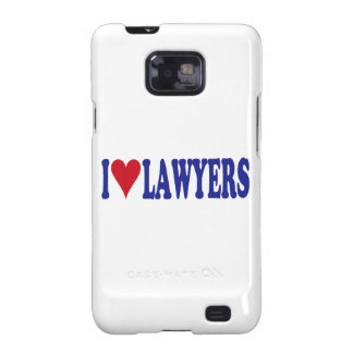 I Love Lawyers Galaxy SII Cases
