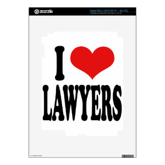 I Love Lawyers iPad 3 Skin
