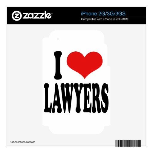 I Love Lawyers iPhone 2G Decal