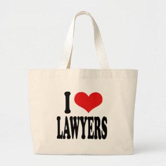 I Love Lawyers Jumbo Tote Bag