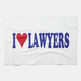 I Love Lawyers Kitchen Towels