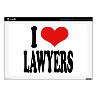 I Love Lawyers Laptop Skins