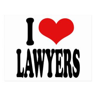 I Love Lawyers Postcard
