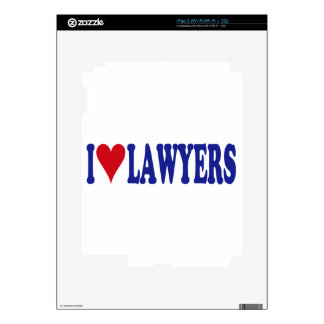 I Love Lawyers Skin For The iPad 2