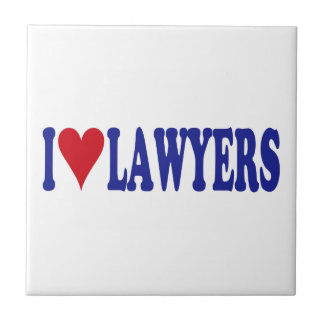 I Love Lawyers Small Square Tile