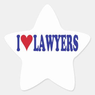 I Love Lawyers Star Sticker