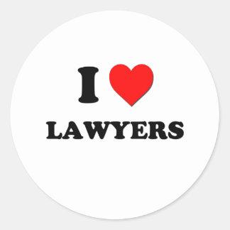 I Love Lawyers Sticker