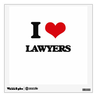 I love Lawyers Wall Decals