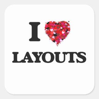 I Love Layouts Square Sticker