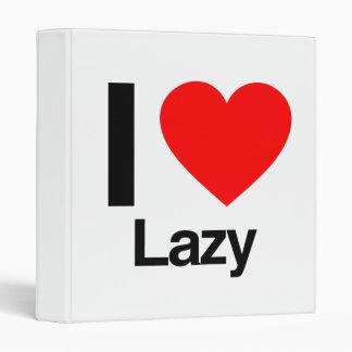 i love lazy vinyl binder
