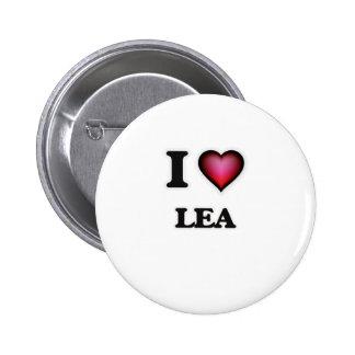 I Love Lea Pinback Button