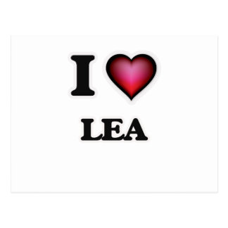I Love Lea Postcard