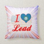 I Love Lead, South Dakota Pillows
