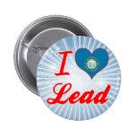 I Love Lead, South Dakota Pinback Buttons