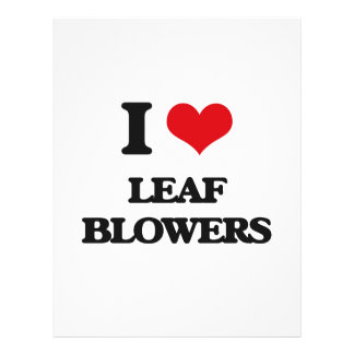 I Love Leaf Blowers Flyer Design