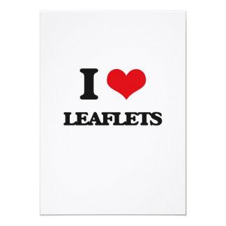 I Love Leaflets 5x7 Paper Invitation Card