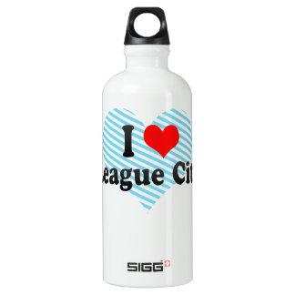 I Love League City, United States Aluminum Water Bottle