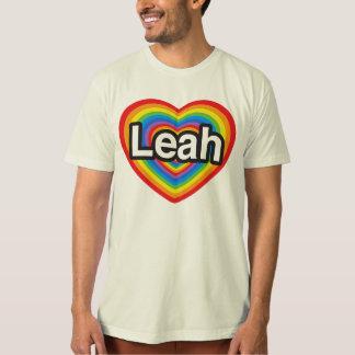 I love Leah. I love you Leah. Heart T-Shirt