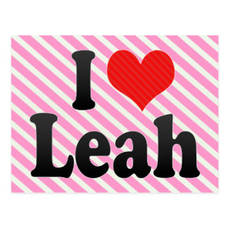 I Love Leah Postcard