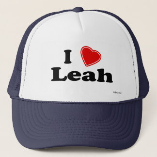 I Love Leah Trucker Hat