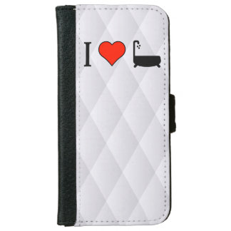 I Love Leaking Bath Tubs iPhone 6 Wallet Case