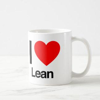 i love lean coffee mug