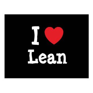 I love Lean heart T-Shirt Postcard