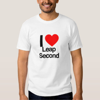 i love leap second shirt