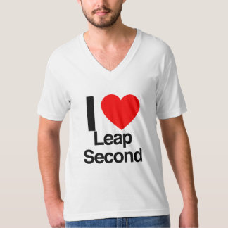 i love leap second tee shirts