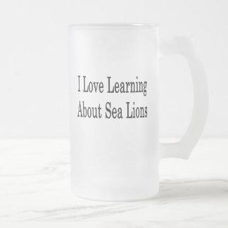 I Love Learning About Sea Lions Coffee Mug