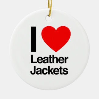 i love leather jackets ornaments