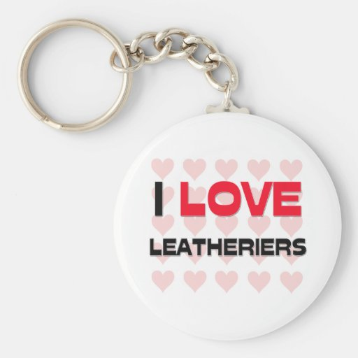 I LOVE LEATHERIERS BASIC ROUND BUTTON KEYCHAIN