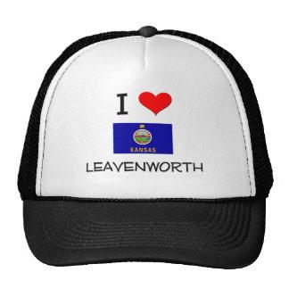 I Love LEAVENWORTH Kansas Trucker Hats