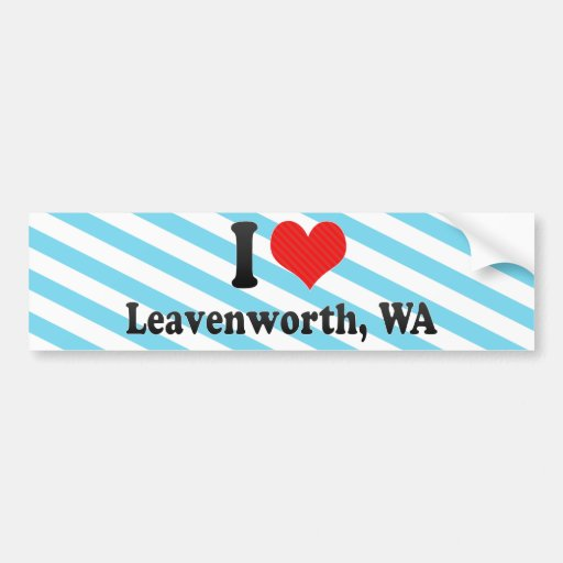 I Love Leavenworth, WA Bumper Stickers