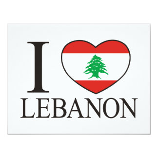 I Love Lebanon Card