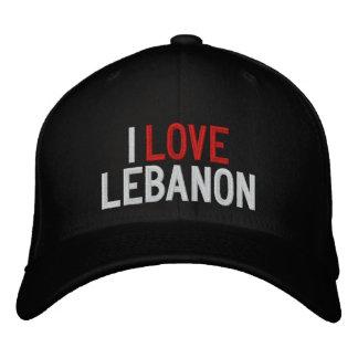 I LOVE LEBANON EMBROIDERED BASEBALL HAT