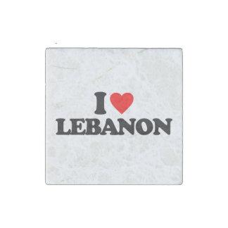 I LOVE LEBANON STONE MAGNET