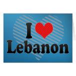 I Love Lebanon Greeting Card