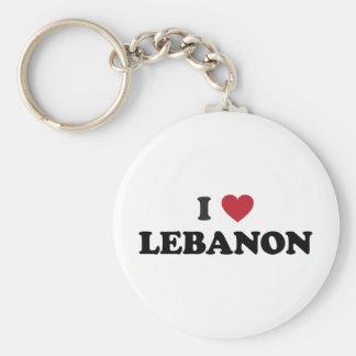 I Love Lebanon Basic Round Button Keychain
