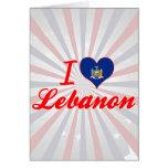 I Love Lebanon, New York Card