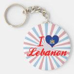 I Love Lebanon, New York Keychains