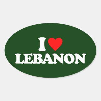 I LOVE LEBANON OVAL STICKER