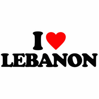 I LOVE LEBANON ACRYLIC CUT OUTS
